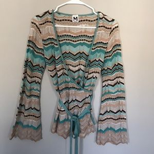 Missoni Knit wrap and tie top